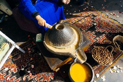 Traditionelle Herstellung Arganöl